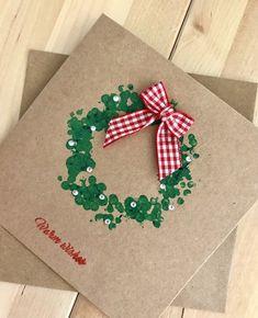 christmas crafts handmade 25 Handmade Christmas cards to copy / Christmas Card Crafts, Homemade Christmas Cards, Christmas Cards To Make, Christmas Activities, Christmas Wrapping, Kids Christmas, Homemade Cards, Handmade Christmas, Holiday Crafts