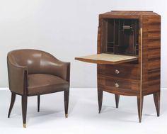Art Deco - ALFRED PORTENEUVE (1896-1949) | A FALL-FRONT SECRETAIRE, CIRCA 1933