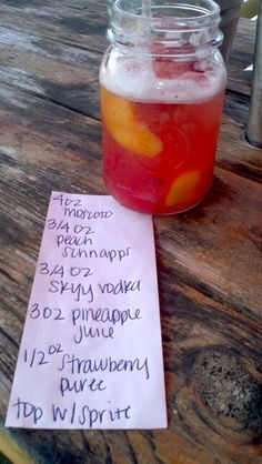 Joe's Crab Strawberry Peach Sangria - official recipe, had this here tonight and its seriously one of the best drinks ever! yummmm