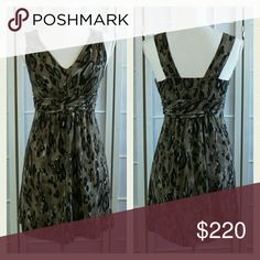 💥 The Limited leopard dress Army green abstract leopard print sundress in excellent condition. Side zip. (Dressform is a size 4, so fit appears extra snug.)     Approx. Measurements in inches Bust 30 Waist 26 Hip 33 Length from shoulder 32  No trades. The Limited Dresses