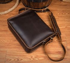 Small Men Messenger Bag, Mens Shoulder Bag, Leather Messenger Bag, Leather Crossbody Bag MS153 Leather Belt Pouch, Leather Crossbody Bag, Men Shoulder Bag, Leather Shoulder Bag, Small Messenger Bag, Monogram Logo, Leather Men, Briefcases, Canvas