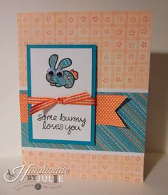 Some bunny loves you - for Operation Write Home Cards with Critters blog hop - stamps by Lawn Fawn