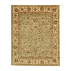 Sarouk Fereghan Rug, Green/Ivory - Ethan Allen US; it's prettier than the picture; I think I'll use it in my new living room
