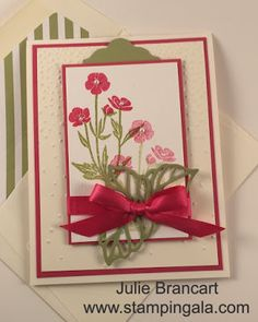 Stampin Gala: WILD ABOUT FLOWERS VIDEO TUTORIAL AND DIMENSIONS