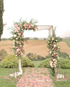 52 Amazing Ways to Set Off a Rustic Spring Wedding spring outdoor wedding arch, lovely and romantic outdoor ceremony. Vintage Wedding Arches, Wood Wedding Arches, Wedding Chuppah, Wedding Arch Flowers, Floral Wedding, Boho Wedding, Outdoor Wedding Arches, Wedding Ceremony, Wedding Blush