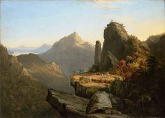 Thomas Cole's perhaps most famous painting The Last of The Mohicans