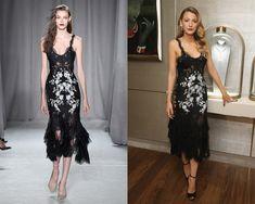 Look de Marchesa primavera-verano 2014 / Blake Lively en la presentación del rediseño de la boutique de Van Cleef & Arpels, en Nueva York.