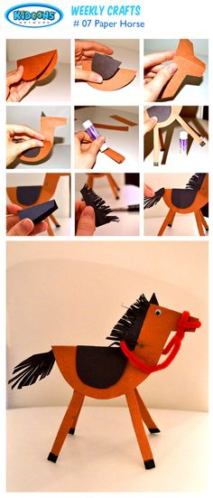 Chinese New Year is coming up on January 31! It's the year of the horse. Join the celebrations with this fun activity and create your very own horse! #kids #diy #crafts #arts #family #paper #horse #chinesenewyear #winter #kidscrafts