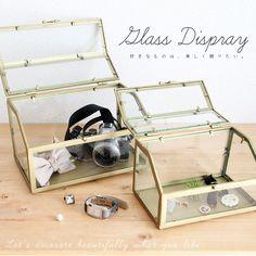 【楽天市場】【送料無料】GLASS DISPLAY【アクセサリーボックス/ガラスケース/小物入れ/テラリウム/ディスプレイ/インテリア】P15Aug15:ガーデニング日和