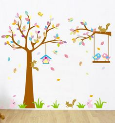Kids bird cage wall decal Kids wall decal by RockyMountainDecals