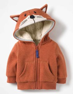 Our extra-soft hoodie was made for mischievous little foxes. The cotton blend is lined with fuzzy fl… – Babykleidung & Kinderkleidung & Kindermode Toddler Boy Outfits, Baby Boy Outfits, Kids Outfits, Carters Baby Clothes, Baby Boden, Baby Boy Monogram, Baby Sewing, Kids Wear, Girl Clothing
