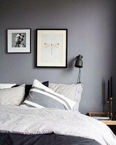 Boa noite com quarto PB!⚫️⚪️#decoração #room #quarto #cama