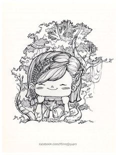 SquaryJam_LittleGirl_In_The_Forest