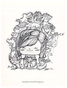 SquaryJam_LittleGirl_In_The_Forest