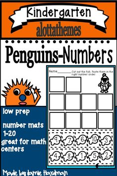 This is a set of number mats 1-20, with the themes of PENGUINS and WINTER. Use them to make games according to your group's needs, for centers, individual work, and small group teaching. They can used for matching, sequencing, subitizing, and recognition. A must have with your penguin unit. #penguins#winter#numbers #mathcenterideas Alphabet Activities, Motor Activities, Number Sense Activities, Subitizing, Number Recognition, Learning Numbers, Learning Through Play, Teaching Kindergarten, Math Skills