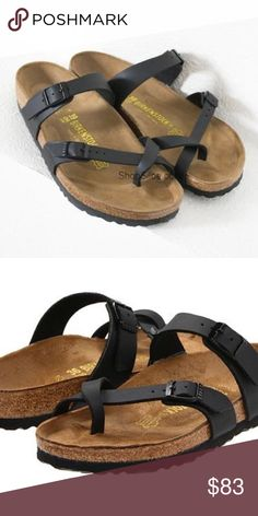 c46f013717b3b Black Birkenstock Gently used black birkenstocks. Size 39   size Very  comfortable and smoke free home Birkenstock Shoes