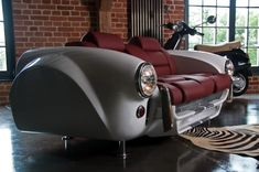 Today Miami Design District brings something really unique and amazing. The Unique Furniture Collection made by Real Car Parts designed Car Part Furniture, Automotive Furniture, Automotive Decor, Unique Furniture, Furniture Making, Luxury Furniture, Furniture Design, Barrel Furniture, Automotive Design