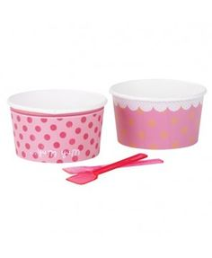 Set of 8 paper bowls and spoons, approx x depth. Fill these pretty party bowls with your favorite ice cream, sweets, fruit and jellies. Comes with perfect pink party spoons to complete the look! Ice Cream Theme, Ice Cream Party, Ice Cream Bowl, Cream Bowls, Cream Cups, Cream Tea, Pink Bowls, Pots, Paper Bowls