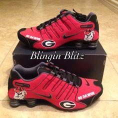 Mens Georgia Bulldogs Shox by BlinginBlitz on Etsy