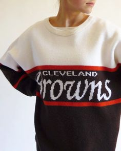 vintage NFL sweater - Cleveland Browns, i received a dozen compliments on this at the game. THANKS ETSY!