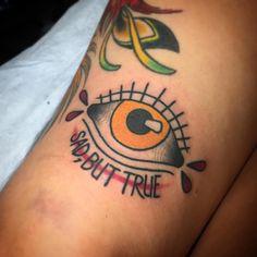 fourthkindillustration:  Eyeball above the bruised knee of...