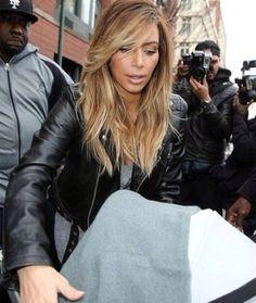 Kim Kardashian Blonde Ombre Hair