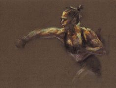 RONDA ROUSEY UFC Fighter MMA Figure Study Drawing Pastel Painting Day ART SIGNED #Realism
