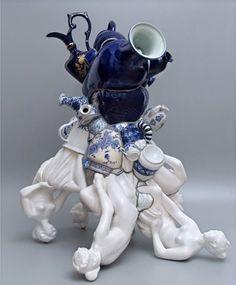 Blue - ceramic - Brazil - Artodyssey: BARRÃO - Jorge Barrão