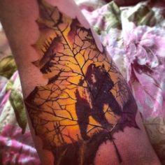 Leaf bear tattoo  #love