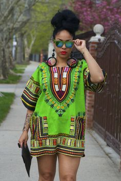 Unisex Dashiki Green & Emerald African Shirt – Kings and Queens ...