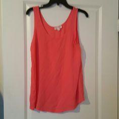 Dressy sleeveless top Coral color tank top sugar rain Tops Tank Tops