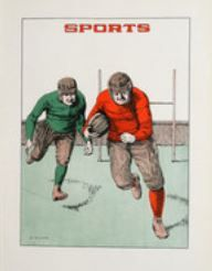 1923 University of Detroit Yearbook, sports section # football