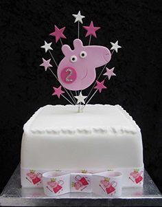 Karen's Cake Toppers - Decoración para tartas pequeñas, diseño de Peppa Pig con estrellas y el número 2 con brillantes Karen's Cake Toppers http://www.amazon.es/dp/B00MKZNF6Y/ref=cm_sw_r_pi_dp_Hgdawb0V8099Y