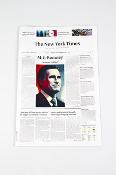 The New York Times by Henrik Steen Karlsen, via Behance