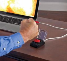 This Big Red Button Attaches To Your Computer To Release Stress at Work