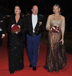 Charlene Wittstock, Prince Albert II, Princess Caroline
