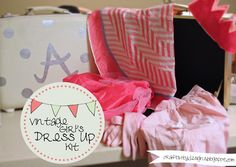 """Craftivity Designs: Vintage Dress Up Kit and Creating a """"Mini-Office"""""""