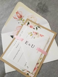 Beautiful Blush and Ivory Flowers mix with greenery on this beautiful wedding invitation. We've printed this invitation on white cardstock for th Garden Wedding Invitations, Beautiful Wedding Invitations, Watercolor Wedding Invitations, Wedding Invitation Suite, Invitation Set, Invite, Envelope Liners, Backyard Projects, Wedding Venues