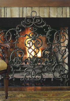 Made by American artisans, the intricate Vineyard Arch Fireplace Screen protects your home and guests from flames and errant sparks while adding sophistication to your hearth.