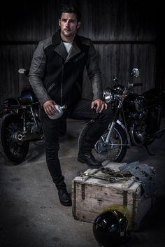 #caferacer #loden #lodenwalker1434 #slowfashion Cafe Racer Jacke, Biker, Slow Fashion, Clothing, Jackets