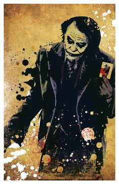 Joker cartel 11 x 17 - decoración de la pared Joker Batman