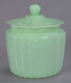 Depression Glass Cookie Jar by Janny Dangerous
