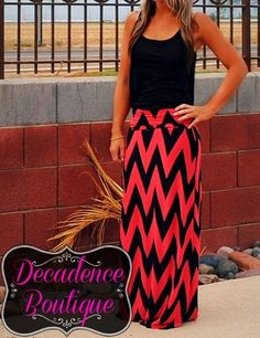 Wish I could pull this off, but I am def not tall enough Chevron Maxi Skirts, Summer Outfits, Cute Outfits, Fall Outfits, Fashion Outfits, Womens Fashion, Fashion 2014, Fashion Ideas, Fashion Tips