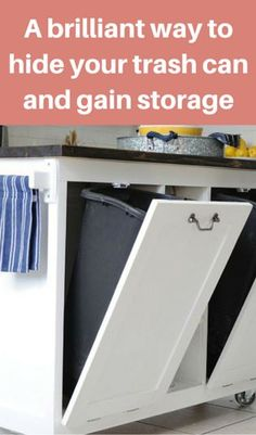 A Brilliant Way To Hide Your Trash can And Gain Storage