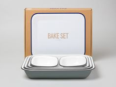 Bake Set - basically all Falcon enamelware is good, I can make amazing pies in this lot...I would really like this so I can throw away some of our awful, ancient, miss-matched bakewear.
