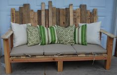 Up-cycled pallets.