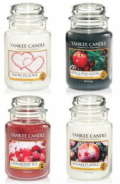 Christmas Yankee Candles - Christmas wouldn't be Christmas without these