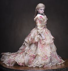 Antique dress for an old fashion doll