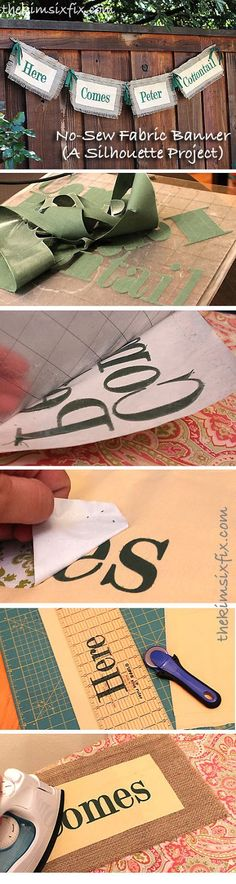 The Kim Six Fix: No-Sew Fabric Banner (Silhouette Fabric Lettering Tutorial)