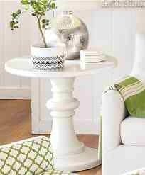 Pottery Barn White Side Table - $95 (Montecito)